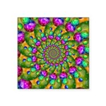 Rainbow Yellow Fractal Art Sticker