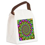 Rainbow Yellow Fractal Art Canvas Lunch Bag