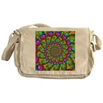 Rainbow Yellow Fractal Art Messenger Bag