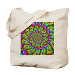 Rainbow Yellow Fractal Art Tote Bag