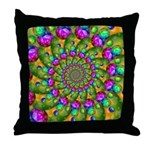 Rainbow Yellow Fractal Art Throw Pillow