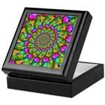 Rainbow Yellow Fractal Art Keepsake Box