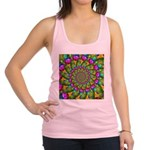Rainbow Yellow Fractal Art Racerback Tank Top