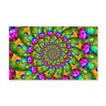 Rainbow Yellow Fractal Art Wall Decal