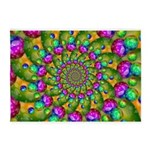 Rainbow Yellow Fractal Art 5'x7'Area Rug