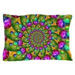 Rainbow Yellow Fractal Art Pillow Case