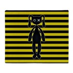 Goth Yellow and Black Bunny Throw Blanket