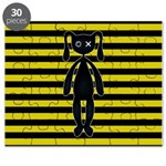 Goth Yellow and Black Bunny Puzzle