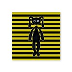 Goth Yellow and Black Bunny Sticker