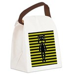 Goth Yellow and Black Bunny Canvas Lunch Bag