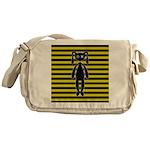Goth Yellow and Black Bunny Messenger Bag