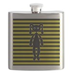 Goth Yellow and Black Bunny Flask