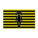 Goth Yellow and Black Bunny Wall Decal