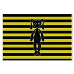 Goth Yellow and Black Bunny Posters