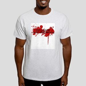 Kayak Shirt- I broke Smething Ash Grey T-Shirt