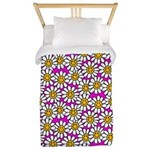 Smiley Pink Daisy Flowers Twin Duvet