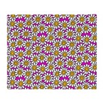 Smiley Pink Daisy Flowers Throw Blanket