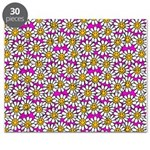Smiley Pink Daisy Flowers Puzzle