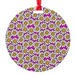 Smiley Pink Daisy Flowers Ornament