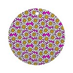 Smiley Pink Daisy Flowers Ornament (Round)