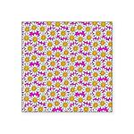 Smiley Pink Daisy Flowers Sticker