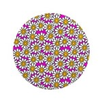 Smiley Pink Daisy Flowers 3.5