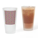 Smiley Pink Daisy Flowers Drinking Glass