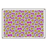 Smiley Pink Daisy Flowers Banner