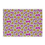 Smiley Pink Daisy Flowers 5'x7'Area Rug