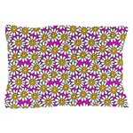 Smiley Pink Daisy Flowers Pillow Case