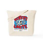 Robots Unite Tote Bag