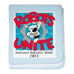 Robots Unite baby blanket