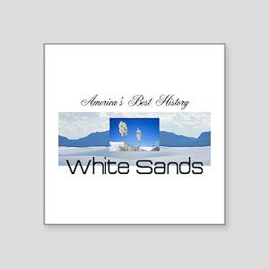 "ABH White Sands Square Sticker 3"" x 3"""