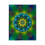 Rainbow Mandala Fractal Art Twin Duvet