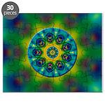 Rainbow Mandala Fractal Art Puzzle