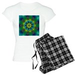 Rainbow Mandala Fractal Art Pajamas
