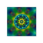 Rainbow Mandala Fractal Art Sticker
