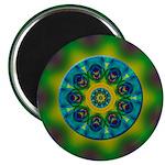 Rainbow Mandala Fractal Art Magnet