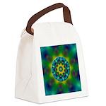 Rainbow Mandala Fractal Art Canvas Lunch Bag