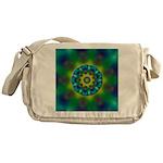 Rainbow Mandala Fractal Art Messenger Bag