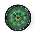 Rainbow Mandala Fractal Art Wall Clock