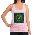 Rainbow Mandala Fractal Art Racerback Tank Top
