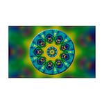 Rainbow Mandala Fractal Art Wall Decal