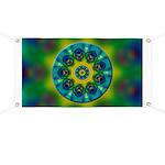 Rainbow Mandala Fractal Art Banner