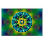 Rainbow Mandala Fractal Art Posters