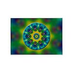 Rainbow Mandala Fractal Art 5'x7'Area Rug