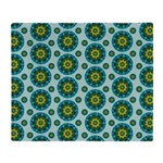 Turquoise Retro Mandala Throw Blanket