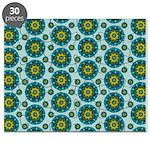 Turquoise Retro Mandala Puzzle