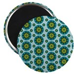 Turquoise Retro Mandala 2.25