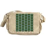 Turquoise Retro Mandala Messenger Bag